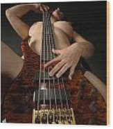 1117 Nude Woman With Guitar Wood Print
