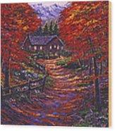 1133 Friendly House Wood Print
