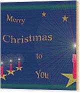 117 - Christmas Card Wood Print