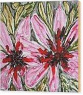 Mann Flowers Wood Print