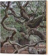 Island Tree Wood Print