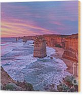 12 Apostles At Sunset Pano Wood Print