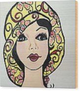 Flapper Girl Claire Wood Print