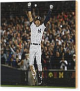 Baltimore Orioles V New York Yankees Wood Print