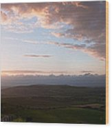 Beautiful English Countryside Landscape Over Rolling Hills Wood Print
