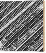 Canary Wharf London Abstract Wood Print