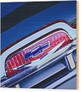 Chevrolet Grille Emblem Wood Print