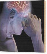 Head Pain Wood Print