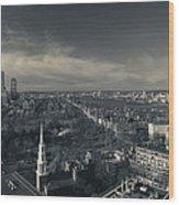 High Angle View Of A City Wood Print