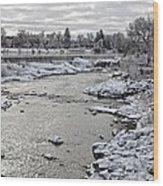 Idaho Falls Wood Print