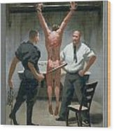 12. Jesus Is Beaten / From The Passion Of Christ - A Gay Vision Wood Print
