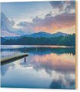Lake Santeetlah In Great Smoky Mountains North Carolina Wood Print