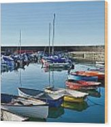 Lyme Regis Harbour Wood Print