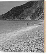 Myrtos Beach Wood Print