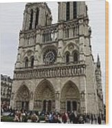 Notre Dame In Paris France Wood Print
