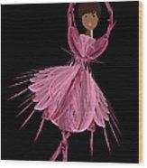 12 Pink Ballerina Wood Print
