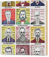 12 Russian Composers Wood Print