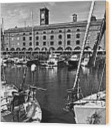 St Katherines Dock London Wood Print
