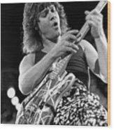 Guitarist Eddie Van Halen Wood Print