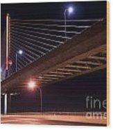 Veterans Glass City Skyway Bridge Wood Print