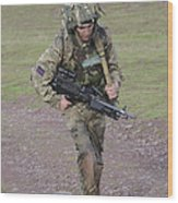 Welsh Guards Training Wood Print