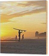 12002 Orange Beach Sunset Wood Print