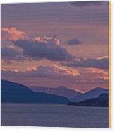 121205a-154 A Sunnyside Sunrise Wood Print