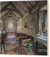 12th Century Chapel Wood Print by Adrian Evans