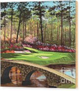 12th Hole At Augusta  Wood Print by Tim Gilliland