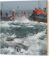 Almadraba Tuna Fishing Wood Print