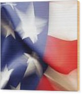 American Flag Wood Print by Les Cunliffe
