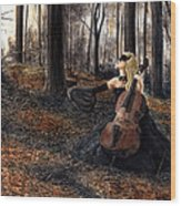 13 Autumns And A Widow Wood Print