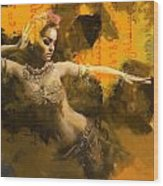 Belly Dancer Wood Print by Corporate Art Task Force
