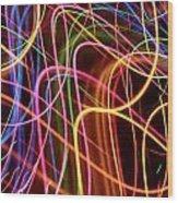 Energy Lines Wood Print
