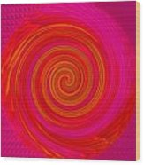 Red Energy-spiral Wood Print