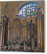 Interior Of St Georges Hall Liverpool Uk Wood Print