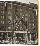 St Katherine's Dock London Wood Print