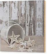 13 Starfish Lane Wood Print