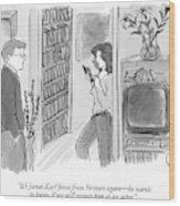 It's James Earl Jones From Verizon Again - Wood Print