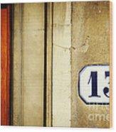 13 With Wooden Door Wood Print