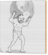 New Yorker February 9th, 2009 Wood Print