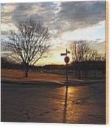 1313 Sunset Wood Print