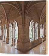 13th Century Gothic Cloister Wood Print