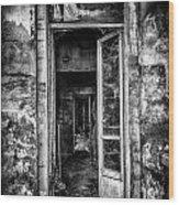 Abandoned Sanatorium Wood Print