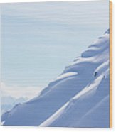 Backcountry Snowboarder Wood Print