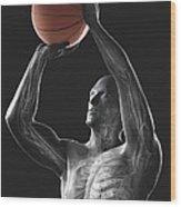 Basketball Shot Wood Print