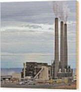 Coal-fired Power Station Wood Print