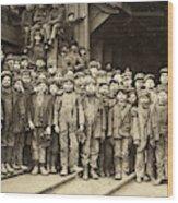 Hine Child Labor, 1911 Wood Print