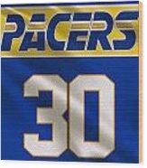 Indiana Pacers Uniform Wood Print