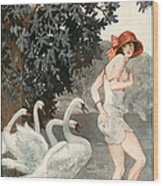 La Vie Parisienne  1923 1920s France Wood Print by The Advertising Archives